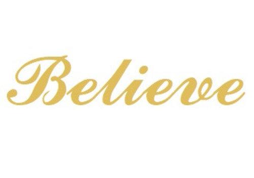 Vermeil Namensanhänger Believe