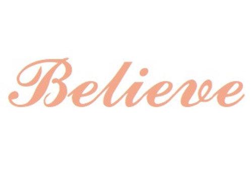 Vermeil name pendant Believe