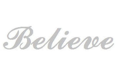 Sterling Silber Namensanhänger Believe