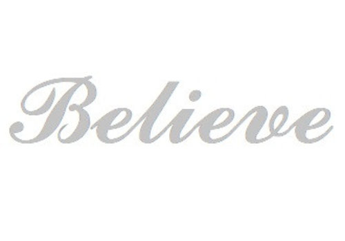 Sterling Zilveren naamhanger Believe