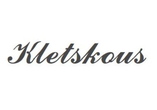 Black Rhodium plattiert Namensanhänger Kletskous