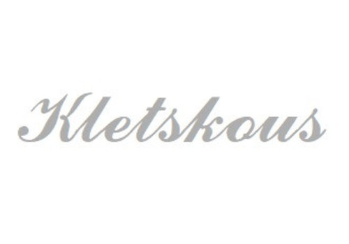 Weiß Rhodium plattiert Namensanhänger Kletskous