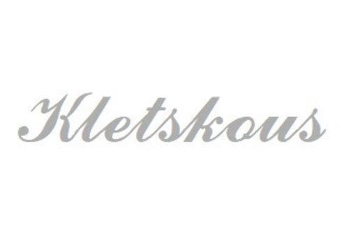 White Rhodium plated naamhanger Kletskous