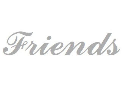 Weiß Rhodium plattiert Namensanhänger Friends