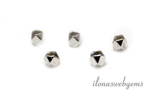 Sterling Silber Perle 'Spiegel Perlen' über 2.4x2.8mm