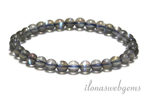Labradorite beads bracelet approx 5.5mm AAA quality unique!