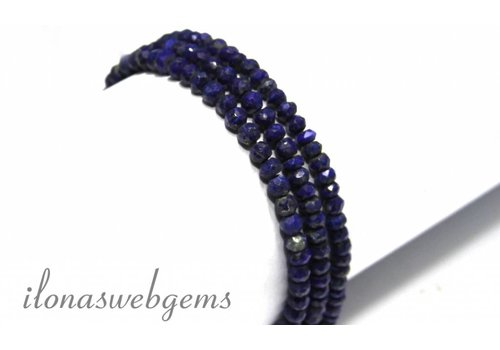 Lapis lazuli beads facet round about 4mm