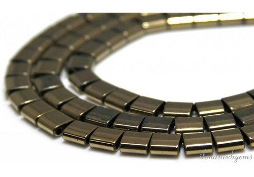 Hematiet kralen warm zilver 6.5x6x3mm