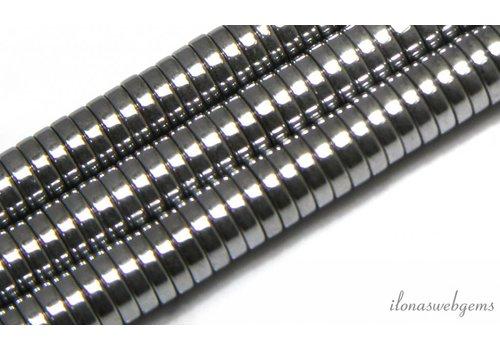 Hematite beads silver 8X2mm