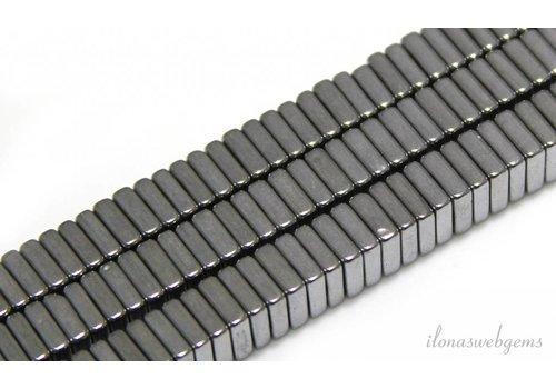 Hematiet kralen zilver 6X6x2mm