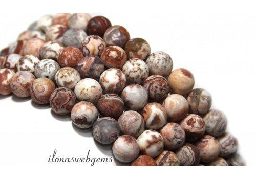 Agaat Mexikanische Achat Perlen rund um 8mm gefrostet