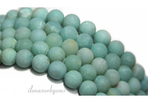 Amazoniet Amazonit Perlen rund um 6mm gefrostet