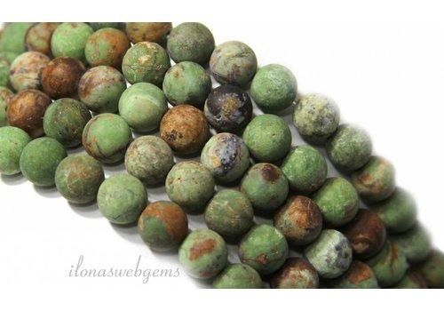 Grüne Opal Perlen rund um 8mm gefrostet