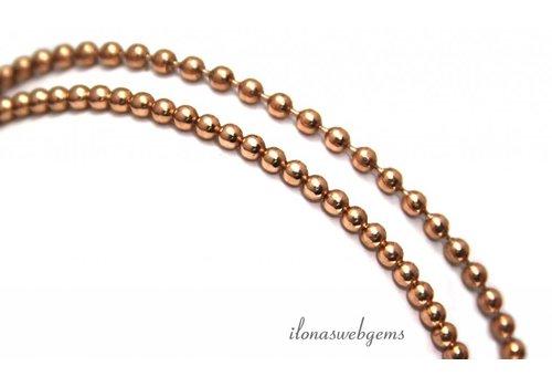 Rosé Vermeil Ballett Halskette elastisch
