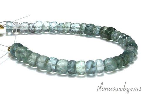 Aquamarine beads facet roundel