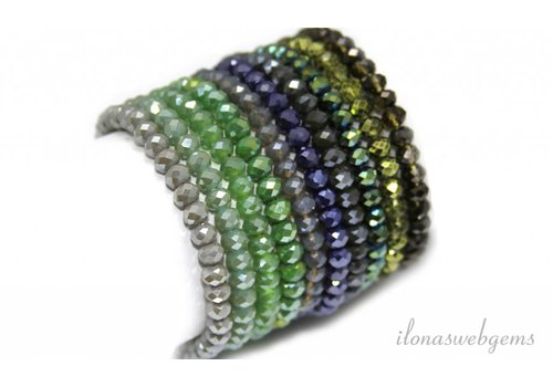 Mix & Match crystal bracelets Swarovski style 6x5mm