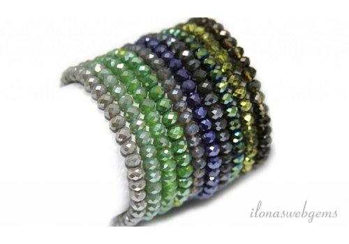 Mix & Match kristal armbandjes Swarovski style 6x5mm