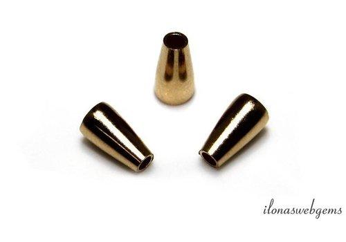 1 Stück 14k / 20 Gold gefüllt Endkappe ca. 7x4mm