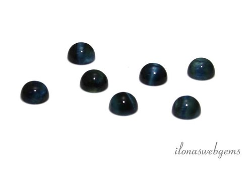 Blue Tiger Eye Cabochon 8mm