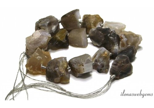 Botswana Agate beads rough approx 15-30mm