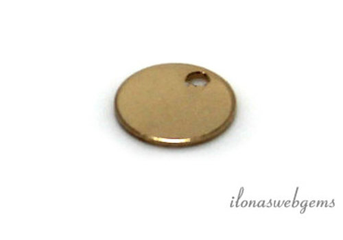 14K / 20 Goldfilled label about 7x0,4mm