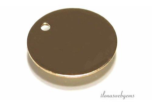 14K/20 Goldfilled labeltje ca. 11x0.4mm