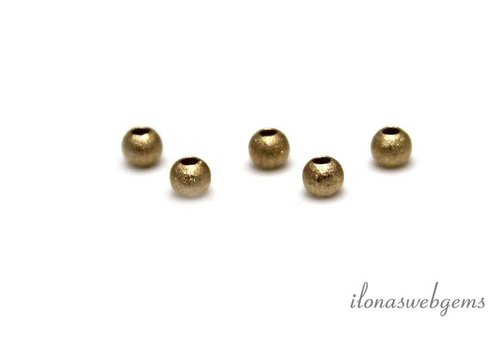 6 pieces gold filled bead dust off about 2mm