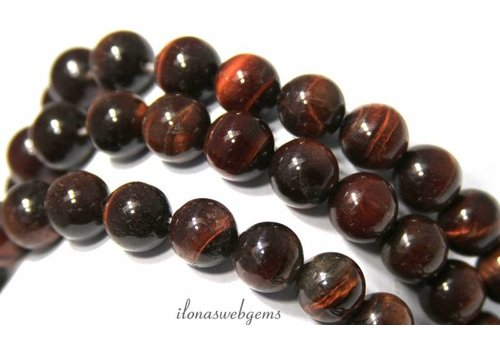 Tiger eye beads red round about 10mm