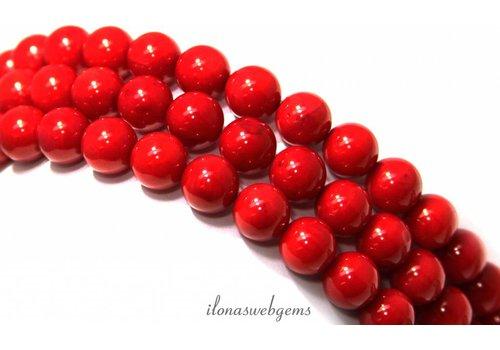 Coral Perlen etwa 8mm