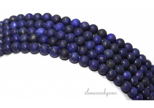 Lapis Lazuli beads mat around 4mm