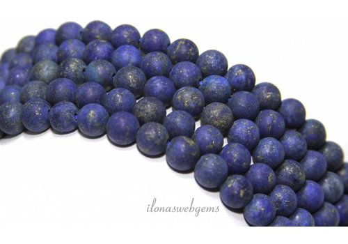 Lapis Lazuli kralen mat rond ca. 6mm