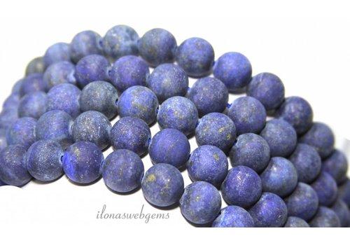 Lapislazuli Perlen rund ca. 10mm mattiert