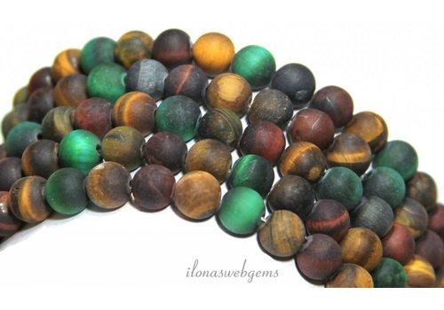 Tiger eye beads mix mat around 8mm