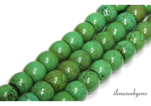 Turquoise beads round about 16x13mm
