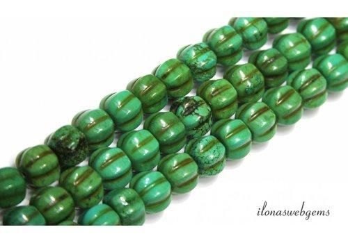 Türkisfarbenen Perlen 'Kürbis' ca. 10x10mm