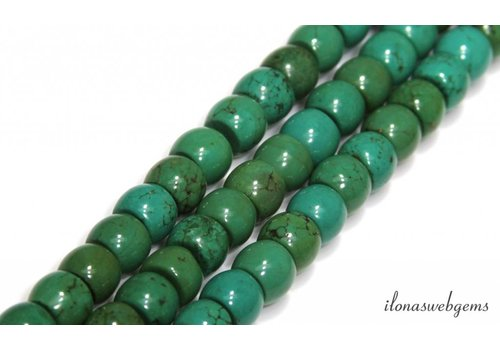 Turquoise beads round about 10x8mm
