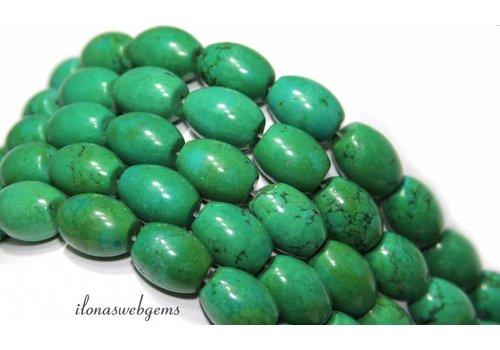 Türkisfarbenen Perlen Rondelle ca.16x12mm