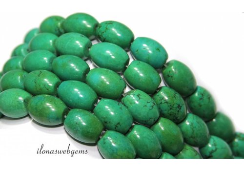 Turquoise beads round about 16x12mm