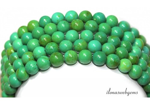 Turquoise beads around approx. 8mm