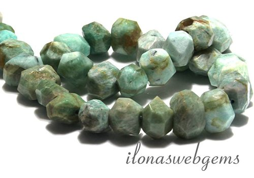 10cm Russian Amazonite beads free shape facet