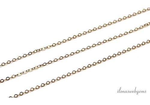 1 cm 14k/20 Gold filled schakels / ketting ca. 1.5mm