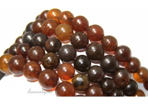 Amber / Barnsteen bead round about 12.5mm