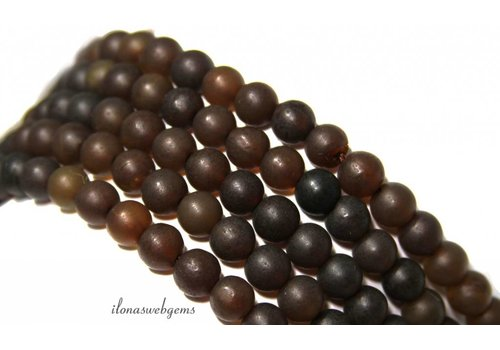 Amber / Barnstone beads around approx. 7.7mm