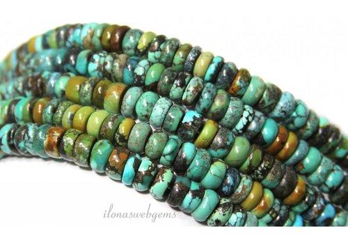 Türkisfarbenen Perlen Rondelle ca.7x2.5mm