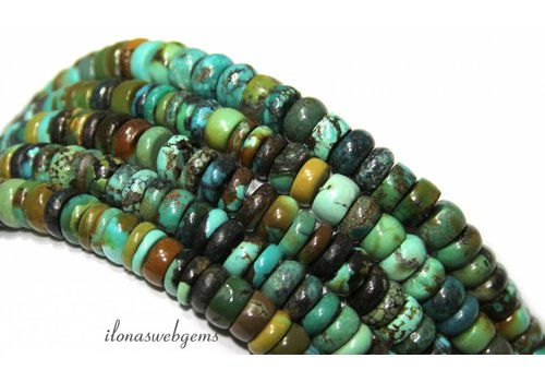 Turquoise beads round about 7x3mm