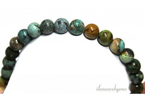 Turquoise beads around 10.4mm