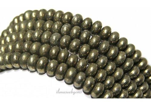 Pyrit Perlen Rondelle über 8,5x5mm