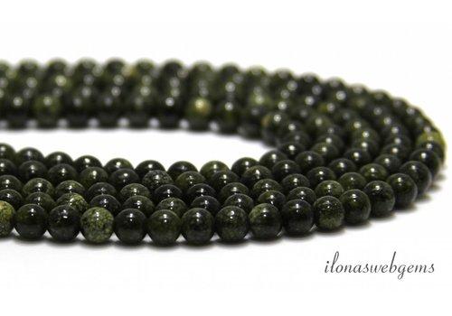 Serpentine Perlen etwa 8mm