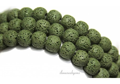 Lava stone beads around 8mm
