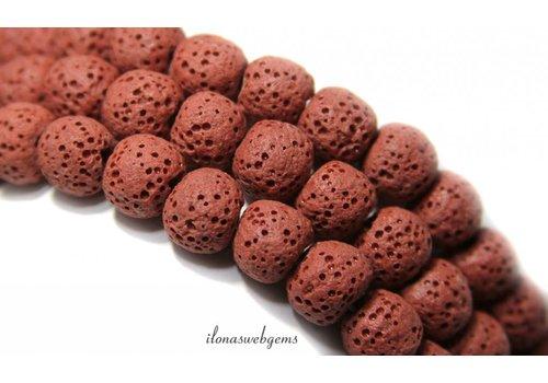 Lava stone beads around 8mm